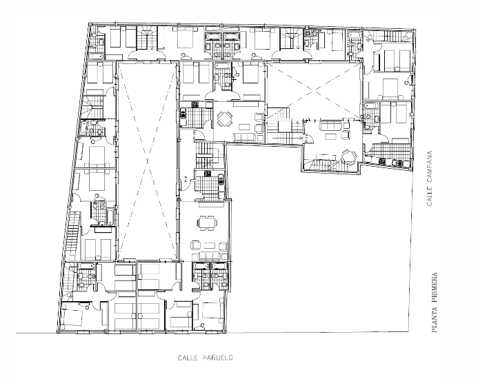 Iniesta Nowell Arquitectos - Corrala de 12 viviendas, Jerez de la Frontera